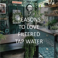 3-reasons-to-love-filtered-tap-water-water2buy Diy Projects On A Budget, Easy Diy Projects, Dark Green Kitchen, William Morris Wallpaper, Metal Sink, Cosy Lounge, Interior Styling, Interior Design, Best Water Bottle