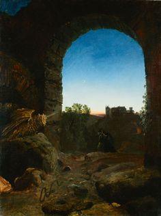 Romantische Landschaft mit Ruine (Carl Blechen)