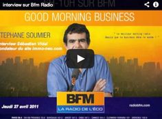 Interview sur BFM Radio Jeudi 27 Avril 2011  http://www.youtube.com/watch?v=bZWC3tEZBO4=player_embedded