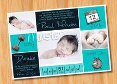 Danksagungskarten Geburt Geburtskarte MUSTER 157 - Bild vergrößern