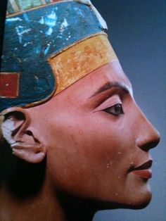 "Nefertiti - ""the beauty has come"" She started a religious revolution with her husband, Pharaoh, and was frequently pictured in contexts normally reserved for Pharaoh, like conquering in battle."