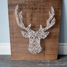 Rustic DIY Tutorial: With a few simple materials, anyone can make this deer string art