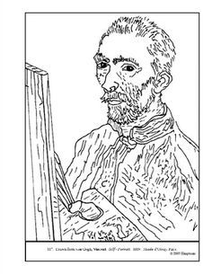 100% free coloring page of Vincent van Gogh painting