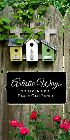 We don't often think about fences as especially decorative structures. However, a drab, boring backyard fence doesn't need much to transform it into a gorgeous focal point. Simply adding a pop of color or a creative hanging display can make all the difference. #sponsored