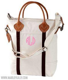 Monogrammed Brown Savvy Satchel Bag