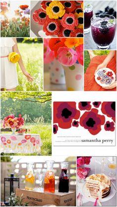 Love the fresh fruit in the drinks! Poppy Inspired Bridal Shower