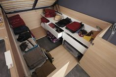 Small Space Storage Solution - This Bed Has Plenty Of Storage Space Built Into The Design