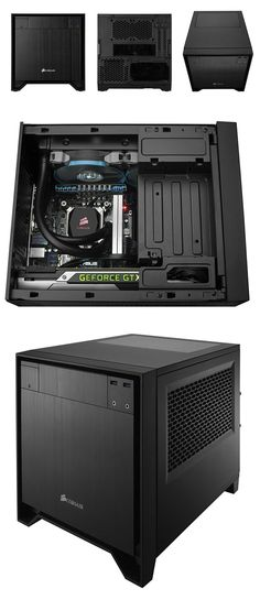 Corsair Obsidian Mini ITX Case - Be Perfect for a Home Entertainment PC in Ones Bedroom or Lounge/Rumpus Computer Build, Computer Case, Gaming Computer, Gaming Pcs, Gaming Setup, Pc Cases, Watercooling Pc, All In One Pc, Best Pc