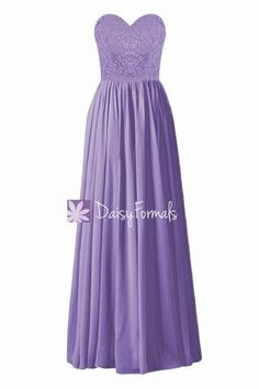 54ca58dadbb0 Stunning Pale Purple Party Dress Long Sweetheart Lace Bridesmaids Dres –  DaisyFormals-Bridesmaid and Formal