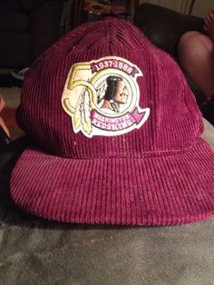 Vintage Corduroy Washington Redskins NFL Football 1937 - 1986 50 yrs hat   Starter  WashingtonRedskins 1200ab163