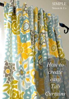 Simple Simon & Company: Tab-Top Curtain Tutorial - my weekend project