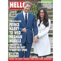 As Prince Harry & Meghan Markle are 'thrilled' to be engaged we have a special updated edition of HELLO! featuring all the photos and details of their engagement. The issue will be available in London tomorrow and nationwide on Thursday or you can download the digital addition today.   via ✨ @padgram ✨(http://dl.padgram.com)