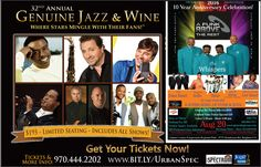 Enter now for the Denver Urban Spectrum's Countdown to 30! Win 2 tickets to the Genuine Jazz & Wine or 2 tickets to see The Whispers!