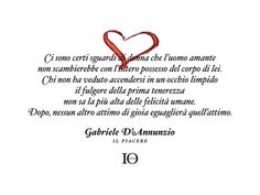 Gabriele D'Annunzio- Il Piacere- frase d'amore: