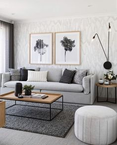 living room living room set living room ideas apartment room interior design living room furniture wall living room living room size rug for living room Living Room Grey, Living Room Interior, Black White And Grey Living Room, Simple Living Room Decor, Apartment Living Room Wallpaper, Cozy Living, Minimalist Living Room Furniture, Grey Room Decor, Living Rooms