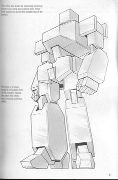 Como Desenhar Mangá - Robôs Manga Drawing Tutorials, Art Tutorials, Transformers Drawing, Robot Sketch, Robots Drawing, Arte Robot, Gundam Art, Robot Concept Art, Ex Machina