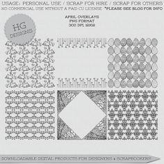 Scrapbooking TammyTags -- TT - Designer - HG Designs, TT - Item - Page Overlay