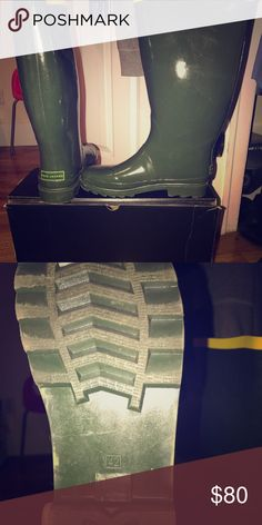 Marc Jacobs Rain Boots with box. Rubber Green & Yellow Rain Boots Marc Jacobs Shoes Boots