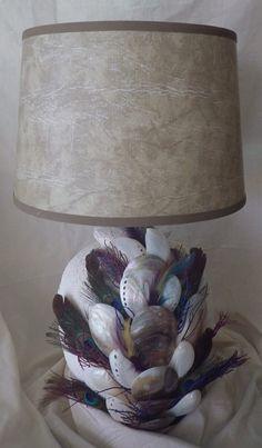 Decorative Shell Art Lamp by ArtiseaShellArt on Etsy, $225.00
