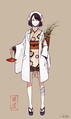 Image about art in Anime by Kikki K on We Heart It Female Character Design, Character Design Inspiration, Character Concept, Character Art, Concept Art, Yukata, Anime Art Girl, Manga Girl, Girls Characters