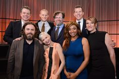 The Oscar® Nominees Luncheon Pictured (left to right): Matt Damon, Casey Affleck, Lucas Hedges, Michelle Williams, Kenneth Lonergan, Kimberly Steward, Kevin J. Walsh and Lauren Beck. #OscarLuncheon #Oscars #4ChionStyle #Oscars89 #Oscars2017 #AcademyAwards