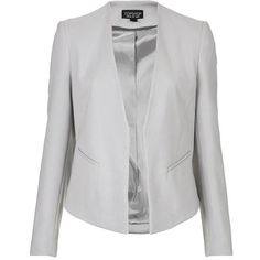 Women's Topshop 'Molly' Blazer (280 PEN) ❤ liked on Polyvore featuring outerwear, jackets, blazers, open front blazer, slim fit jacket, topshop blazer, open front jacket and topshop