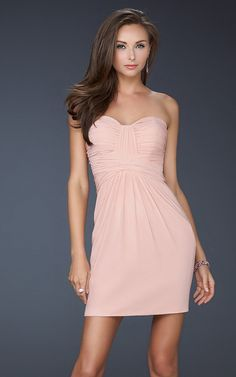 Discount Blush Strapless Tight Short Dress La Femme 16906 [Blush Short Dress La Femme 16906] - $132.00 : lafemme promd resses cheap