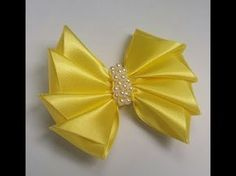 Tutorial Flor pentágono Listón Raso/ DIY Ribbon Rose/Flor para lazos Tutorial/Diy#105 - YouTube