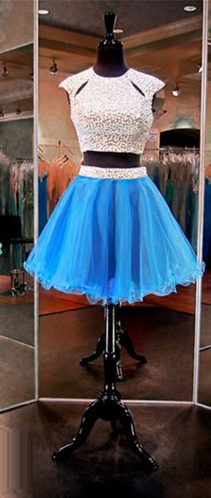 Blue Short Prom Dresses,Junior Prom Dresses,Two Piece Prom #chiffon #prom #party #evening #dress #dresses #gowns #cocktaildress #EveningDresses #promdresses #sweetheartdress #partydresses #QuinceaneraDresses #celebritydresses #2017PartyDresses #2017WeddingGowns #2017HomecomingDresses #LongPromGowns #blackPromDress #AppliquesPromDresses #CustomPromDresses #backless #sexy #mermaid #LongDresses #Fashion #Elegant #Luxury #Homecoming #CapSleeve #Handmade #beading