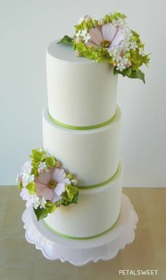 Cosmos Wedding Cake by Petalsweet.