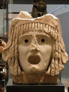 Tragic mask 1st century BC to 1st century AD, Ashmolean Museum