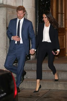 Prince Harry and Meghan Markle Light Up London on Their Chic and Charitable Night Out