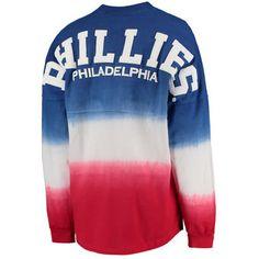 Women's Philadelphia Phillies Royal Oversized Long Sleeve Ombre Spirit Jersey T-Shirt