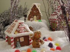 My gingerbread collection:  I collect ceramic gingerbread houses & make a winter-wonderland on Christmas as decoration. -Mari, copyrighted