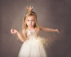 girl glitter photography session