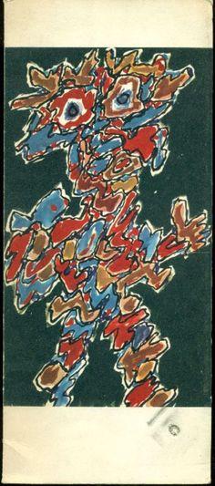 Jean Dubuffet. Paris Circus. Paris,  Galerie Daniel Cordier,  1962