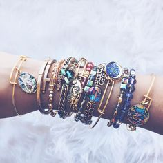 T I A N N A || ALEX AND ANI (@happytiannavibes) • Instagram photos and videos | charmed arms | bangles | jewelry | colors | arm candy