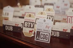 vintage travel wedding escort cards- Name each table a different city or country the couple has visited together. LOVE THIS