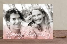Ombre Sparkle Christmas Photo Cards by Hooray Creative at minted.com