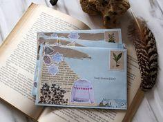 Boríték dekorálás téli matrica szettel Snail Mail, Bullet Journal, Post Office