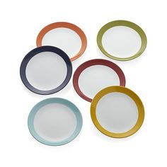 6 x Enamel Finish Camping Plate Tin Picnic 24cm Bowl Outdoor Garden Table PLATE