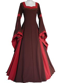 Medieval red cosplay dress civil victorian wedding dress A10275 | cosplaydiy - Clothing on ArtFire