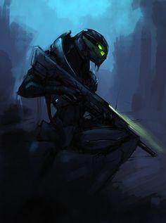 Turian female sniper concept! Sweet!
