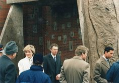 Diana, Princess of Wales and Prince Charles at the grand opening of The Ackers Trust.
