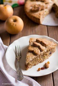 Apple Pie vegana con farina integrale e senza zucchero Raw Food Recipes, Sweet Recipes, Cake Recipes, Sweet Desserts, Italian Recipes, Healthy Recipes, Healthy Cake, Vegan Cake, B Food