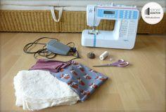 Kostenlose Nähanleitung für einen Strampelsack - Eure Materialien
