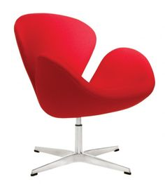 Very similar to The little tulip chair by Paulin    Swan Chair – Arne Jacobsen    History: The Swan Chair is the Egg Chair's cousin which was conceived simultaneously for the same Hotel commission in 1958. The Swan Chair was most influential of its time for its seamless curvature and has defined the Retro style which remains popular today.