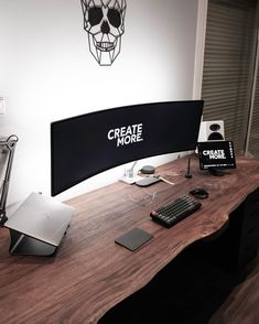 Gaming Room Setup, Computer Setup, Pc Setup, Desk Setup, Home Room Design, Home Office Design, House Design, Pc Desk, Home Office Setup