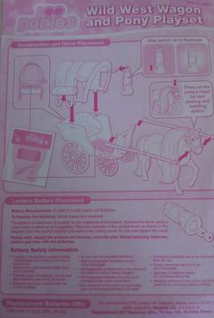 I Love Ponies - Wild West Wagon and Pony Playset leaflet