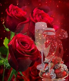 dreamies.de (lh6q7zyzqdl.gif) Happy Birthday Wishes Cake, Birthday Songs, Happy Sunday, Happy New Year, Wine Glass Images, Love You Gif, Romantic Gif, Rubrics, Beautiful Roses